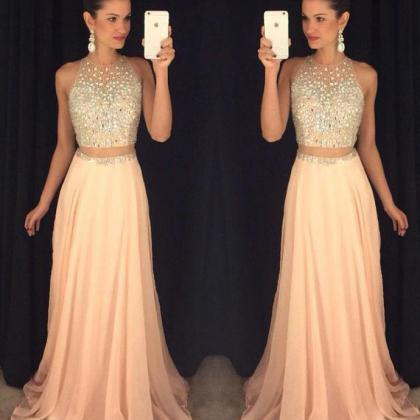 Two Pieces Long Prom Dresses, 2017 ..
