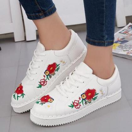 Ulass Floral Embroidered Faux Leath..