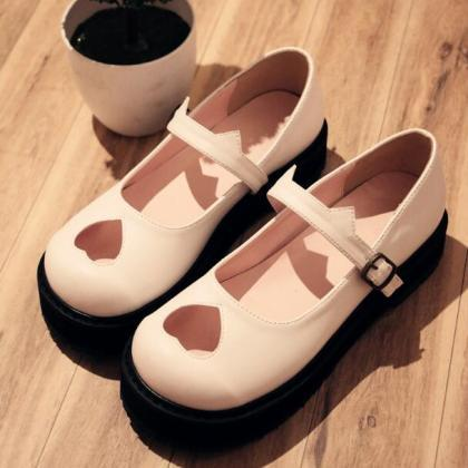 Ulass Black/White Lolita Heart Holl..
