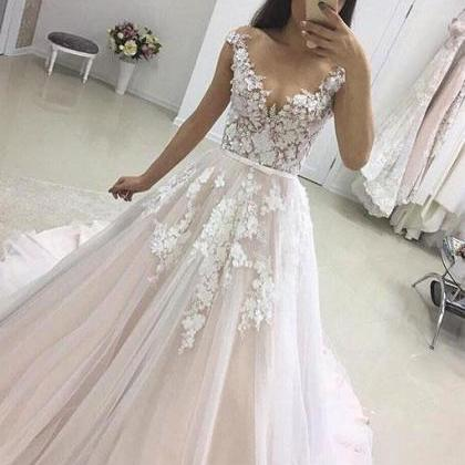 Ulass Charming Long Tulle Lace Prom..
