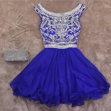 royal blue homecoming dress,crystal..