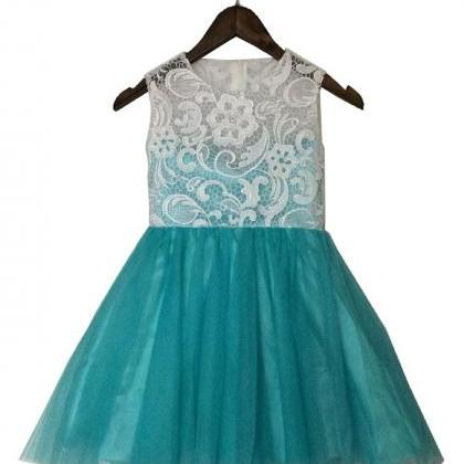 Ulass Lace A-line Tulle Flower Girl..