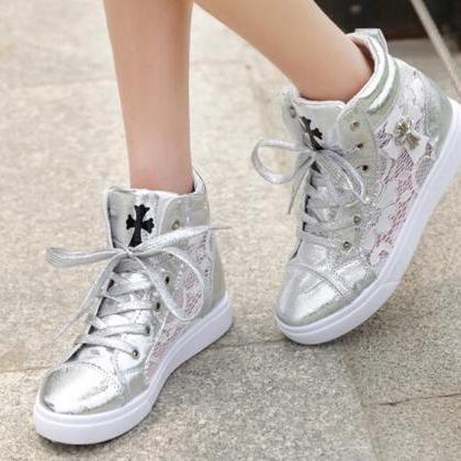 Casual Lace High Top Sneaker with C..