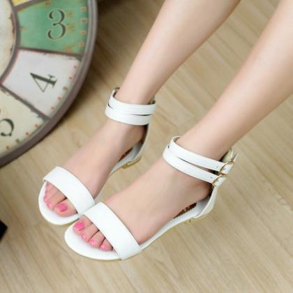 Double Ankle Strap Open Toe Sandal ..