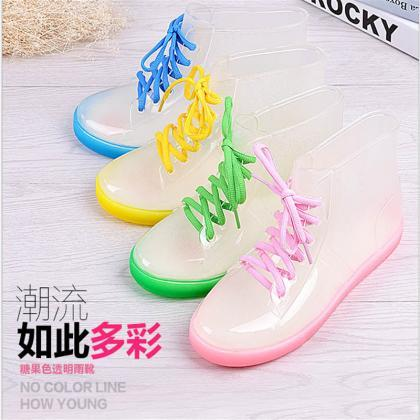 Ulass Rain boots, women with short ..