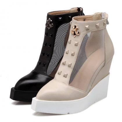 Ulass High Wedge Sandals Lace Up Sa..
