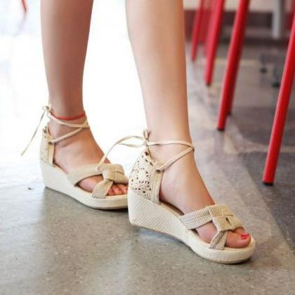 Ulass Lace Women Sandals Cutout ank..