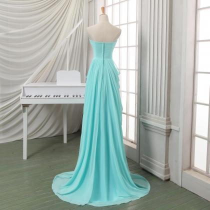 Ulass Long pleated chiffon prom dre..