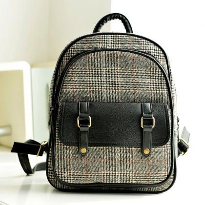 Ulass Fresh Plaid Canvas College Ni..