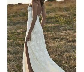 Ivory Lace Beach Wed..