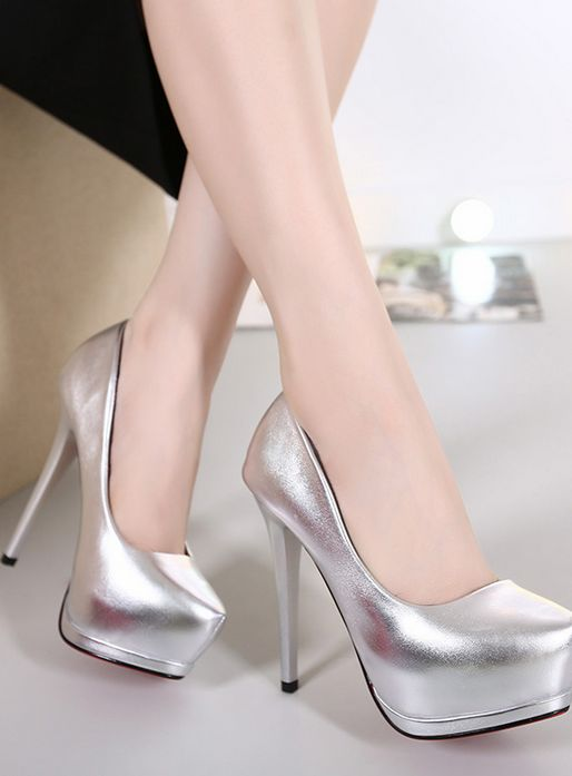 Patent Leather Pointed-Toe Platform High Heel Stilettos