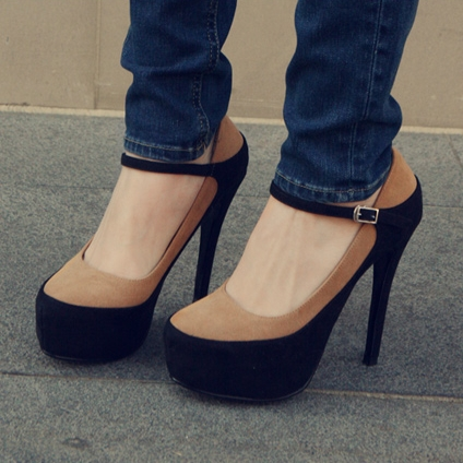 Ulass Fashion Color Block High Heel Pumps ST-119