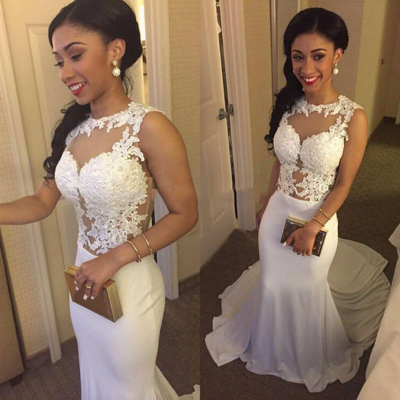 Ulass White Prom Dresses, Mermaid Prom Dresses, Lace Appliques Prom Dresses, Court Train Prom Dresses, Evening Dresses, Party Dresses, Wedding Dresses