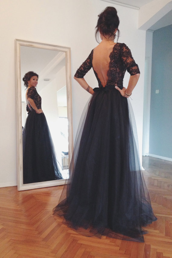 356fcf19da Ulass Lace And Tulle Prom Dresses