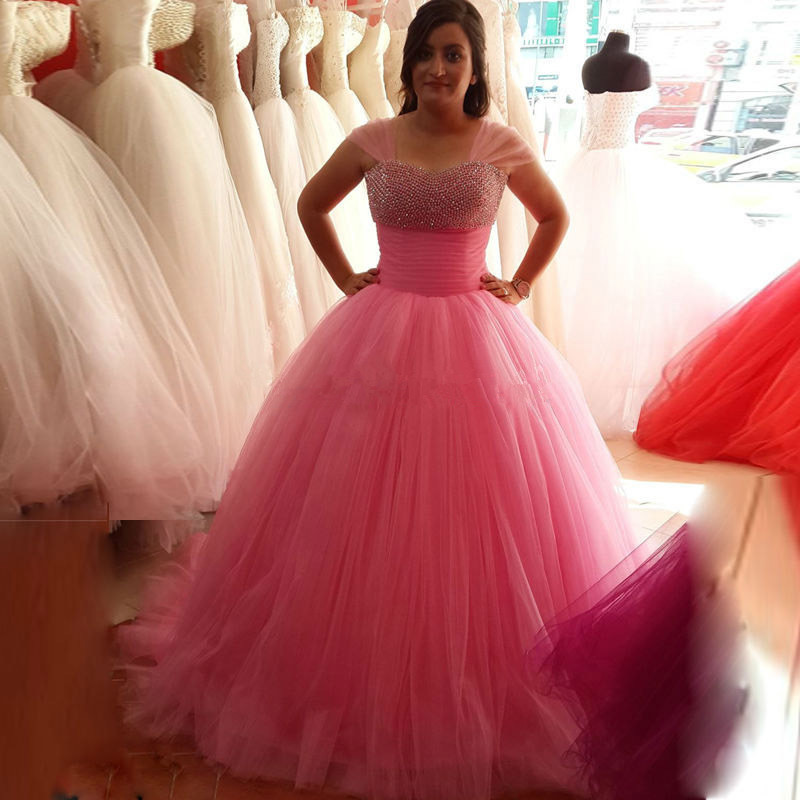 61ea0911f82db Ulass Velvet Long Beautiful Puffy Tulle Ball Gown Prom Dresses 2016 With  Crystal