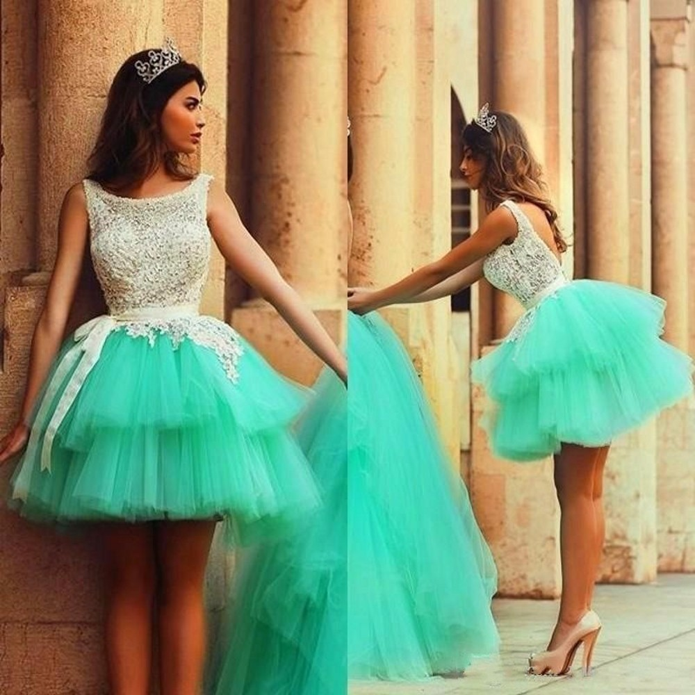 Light Green Short Party Dresses