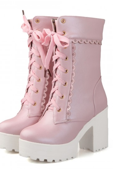 Ulass Lolita Cosplay High Heel Boots