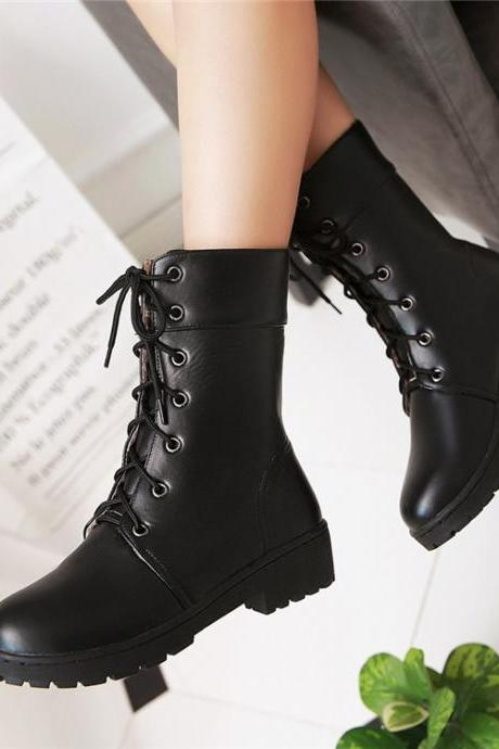 Ulass New Fall/Winter Lace Up Boots