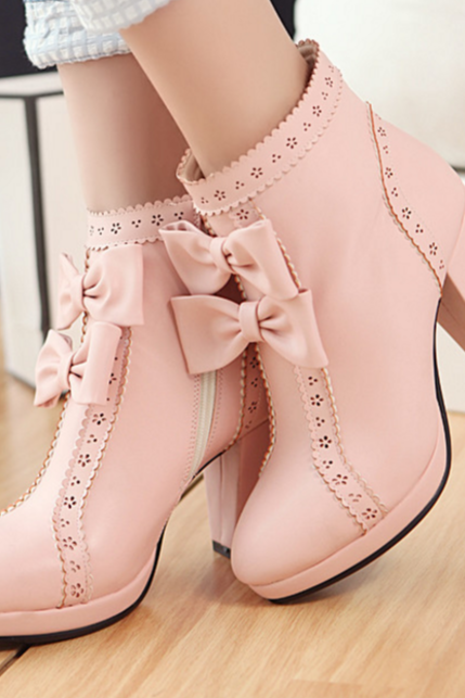 Ulass Lolita Sweet Bowknot Booties