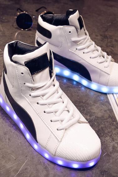 Ulass High Top Unisex Light Up LED Shoes
