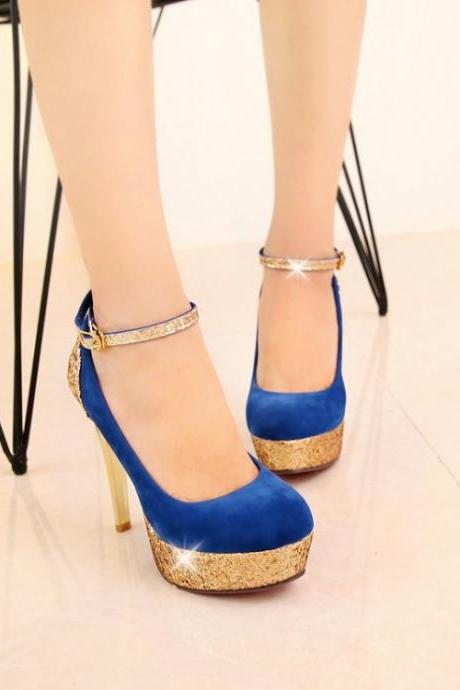 Ulass Ankle Strap High Heel Fashion Shoes ST-070