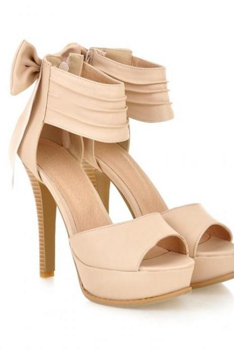Ulass High Heel Ankle Strap Beige Sandals ST-102