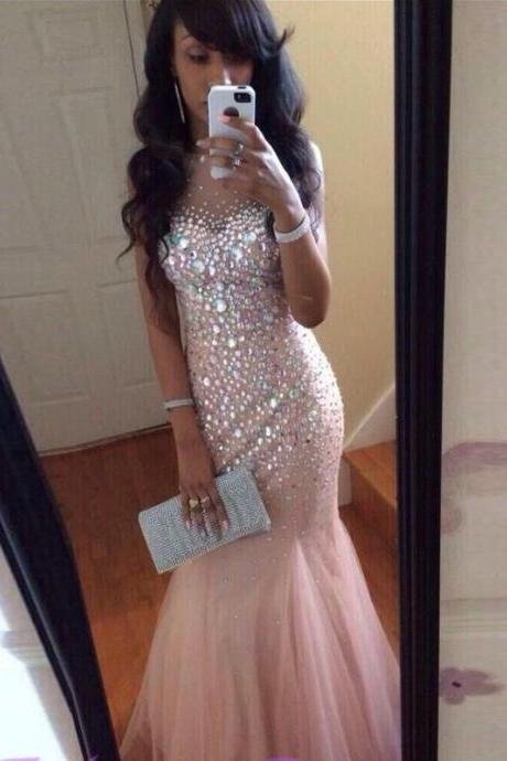 Ulass Sexy Mermaid Prom Dresses,Beaded Prom Dresses,Pink Prom Dresses,Plus Size Prom Dresses,Evening Dresses,Plus Size Prom Dress,Party Dresses