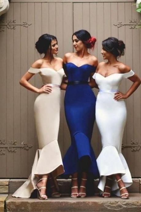 Ulass Off Shoulder Sweetheart Mermaid Prom Dresses,Bridesmaid Dresses, Wedding Party Dress