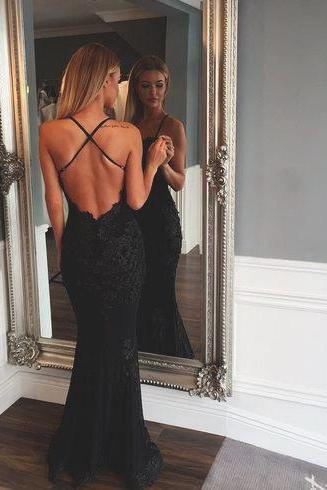 Ulass Backless lace prom dresses, Sexy mermaid prom dress, Lace prom dress, dresses for prom, beautiful prom dress