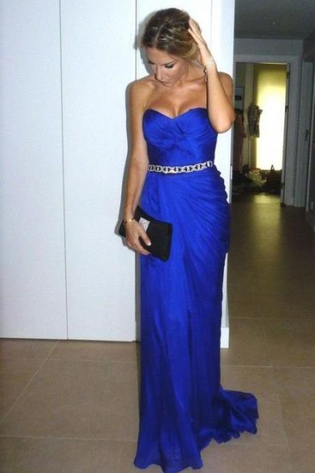 Ulass Sexy Sweetheart evening dress,Evening Dresses,Prom Gowns,Royal Blue Prom Dresses,Royal Blue Prom Dress,Beading Formal Gown,Beading Prom Dresses