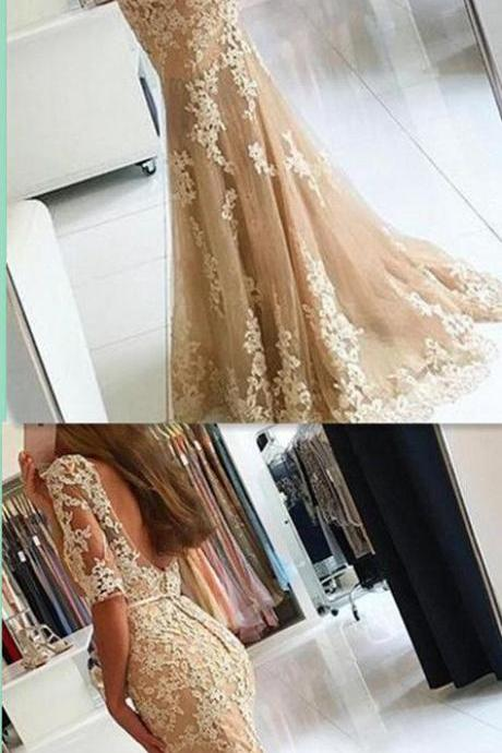 Mermaid Appliques Prom Dress,Long Prom Dresses,Charming Prom Dresses,Evening Dress Prom Gowns, Formal Women Dress,prom dress