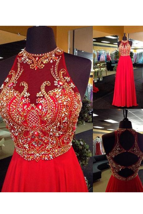 Ulass Red prom dress, Beaded prom dress, long prom dress, prom dress online, 2016 prom dress, rhinestone prom dress