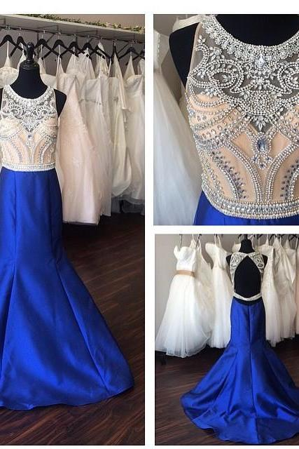 Ulass Royal Blue Prom Dress, Mermaid Prom Dress, Sleeveless Prom Dress, Evening Dress, Sexy Prom Dress, Backless Prom Dress, Fantastic Prom Dress