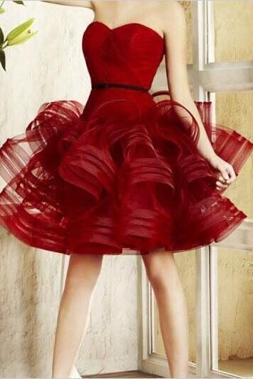 Ulass New 2016 Hot Sale Fashion Burgundy Short Homecoming Dresses Plus Size Sexy Backless Sweetheart Cheap Prom Party Dress Custom