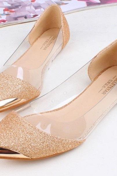 Ulass Transparent pointed shoes