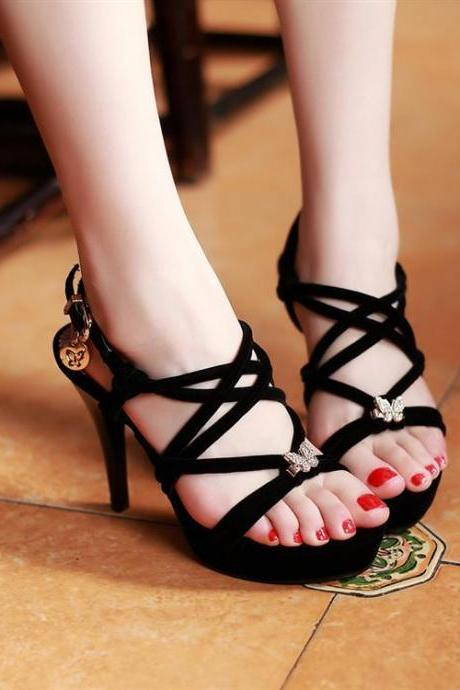 Ulass Zircon bow sandals