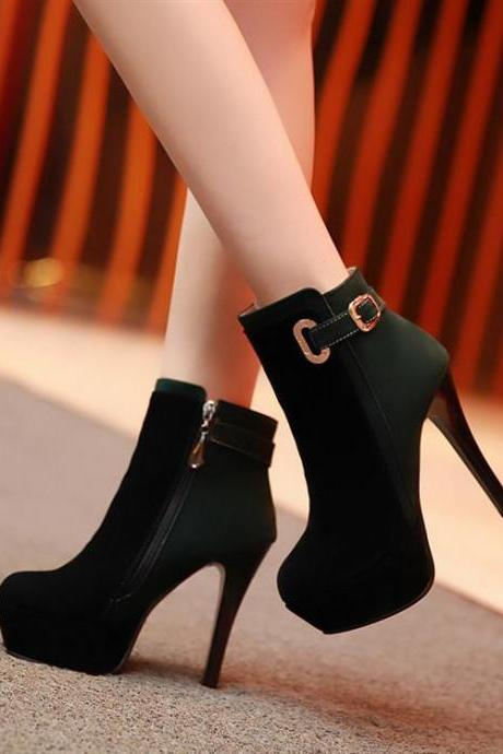 Ulass Spell color high-heeled boots