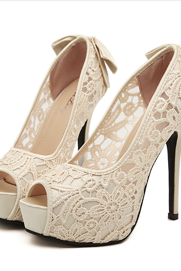 Ulass Sexy lace high heels