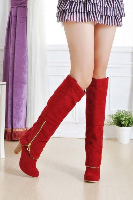Ulass Hot sale New arrival fashion high heel boots ladies sexy knee high boots for women shoes