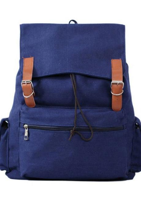 Ulass SImple Large Capacity Leisure Canvas Backpack-BB-13