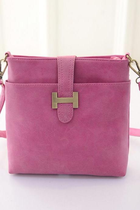 Ulass Sweet Candy Color Leather Shoulder Bag-BB-14