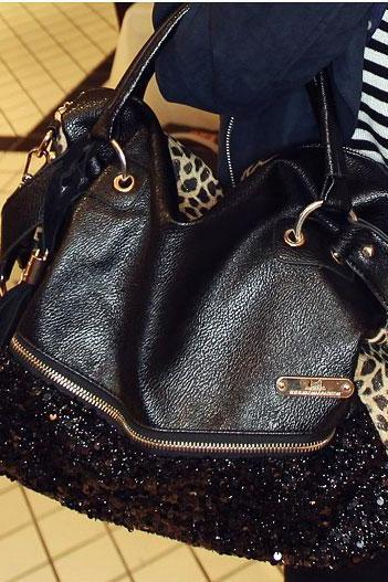 Ulass Elegant Sequined Leopard Handbag-BB-19