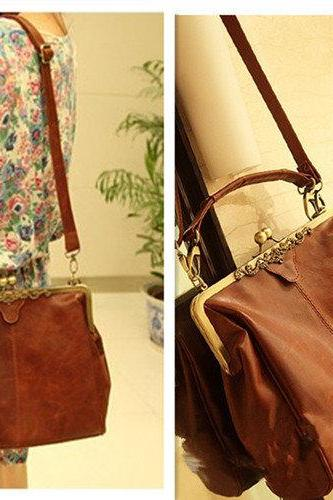 Ulass Fashion Style Brown Hollow Out Shoulder Bag-BB-24