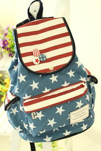 Ulass America Flag Students Backpack BB-29