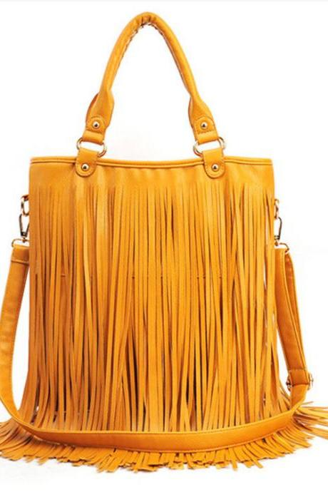 Ulass New Fashion Tassel Messenger&Shoulder Bag BB-46