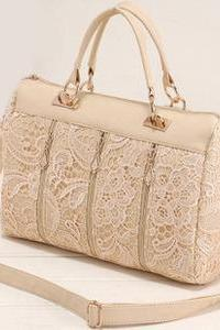 Ulass Fashion Lace Handbag&shoulder bag-Nice pink BB-48