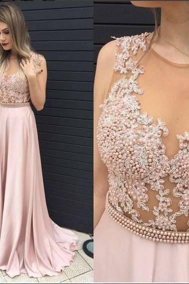 Ulass Sexy Prom Dress, Long Prom Dress,See Though Evening Dress,Formal Evening Gown