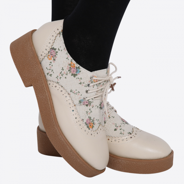 Ulass Retro Vintage Oxford Floral Shoes