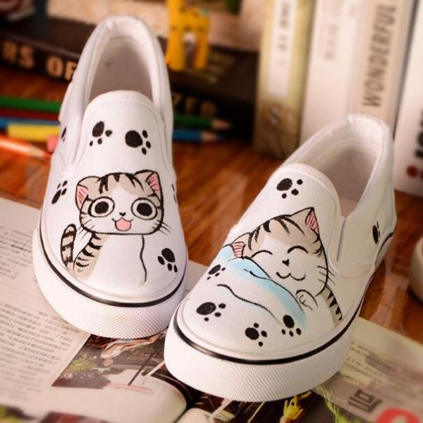 Cartoon Cat Loafers