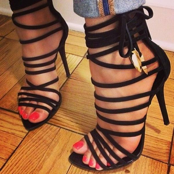 Ulass Gladiator Lace up High Heel Sandal ST-080
